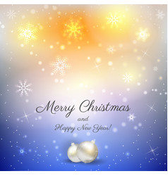 christmas background with decorations vector image