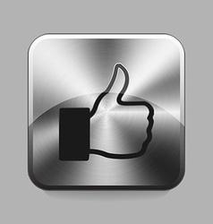 Chrome button vector