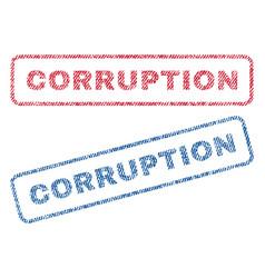 Corruption textile stamps vector