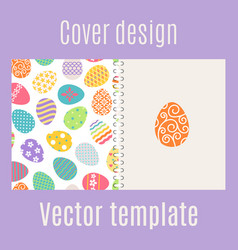Cover design with easter eggs pattern vector
