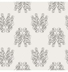 Elegant difficult curled ornamental gothic tattoo vector