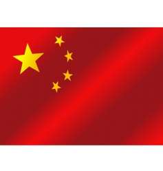 flag of China republic vector image vector image
