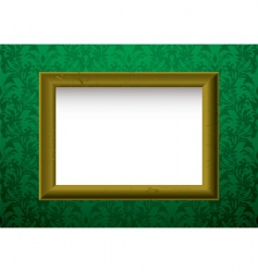 gold frame on green vector image