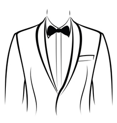 Jacket and bow tie vector image