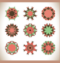 Mandala hand drawn background vector