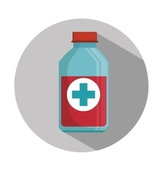 medicine bottle container vector image vector image