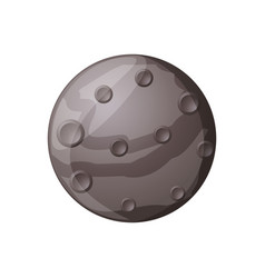 Mercury planet isolated vector