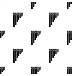 Mexican pan flute icon in black style isolated on vector