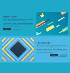 modern design website blue vector image vector image