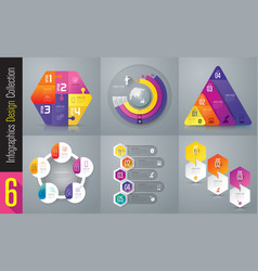 Set of infographics design vector