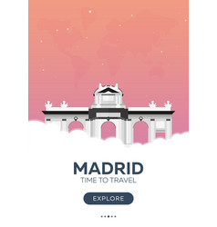 Spain madrid time to travel travel poster vector