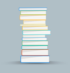 Stack of academic books academic books vector