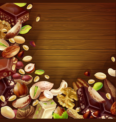 tasty natural products background vector image vector image