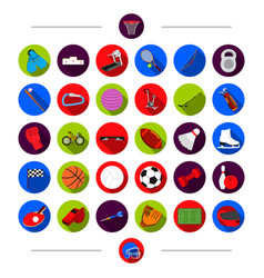 training attributes sport and other web icon in vector image