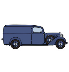 Vintage delivery car vector