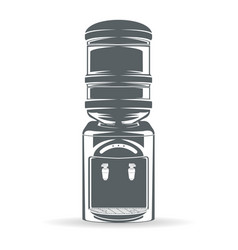 Water bottle cooler monochrome vector