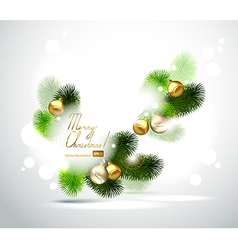 Christmas branch of fir tree vector