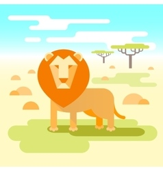 Lion - king of the savannah vector