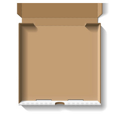 Open pizza box vector