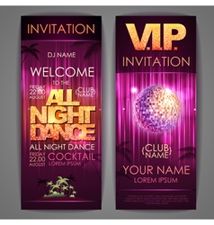 All night dance poster vector