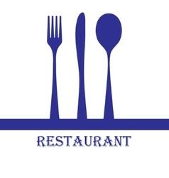 Restaurant sign vector image