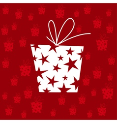 gift pattern vector image