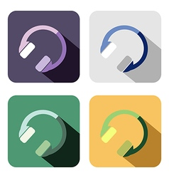 Set of colorful icons of headphones vector