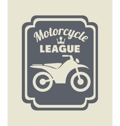 Motorcycle rider design vector