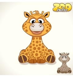 Cartoon giraffe character vector