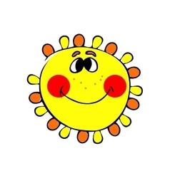 smilling sun vector image