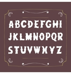 Retro alphabet hand drawn letters vector