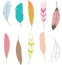 Feather clip artfeather pattern vector