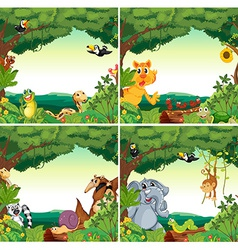 Animals and forests vector image