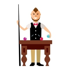 Billards Flat style colorful Cartoon vector image