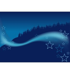 Blue Christmas Forest vector image vector image