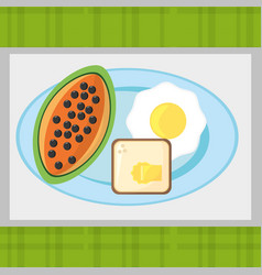 breakfast food fresh health image vector image vector image