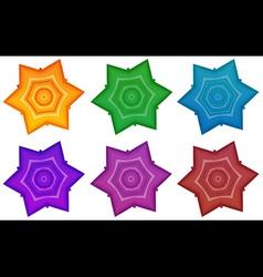 Colourful stars vector
