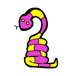 Comic cartoon snake vector