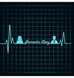 Creative happy parents day background vector