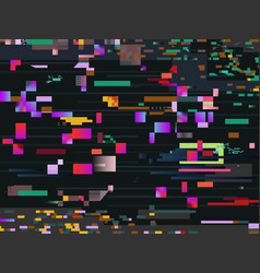 digital glitch screen effect glitched video vector image