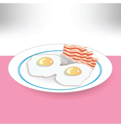 eggs and beacon vector image