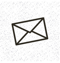 Envelope paper isolated icon vector