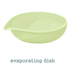 Evaporating dish icon cartoon style vector