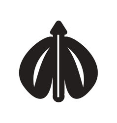 Flat icon in black and white style flying beetle vector