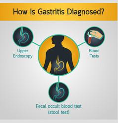 gastritis logo icon vector image