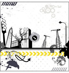 Grunge urban card vector image vector image