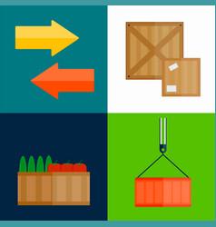 Import export fruits box vector