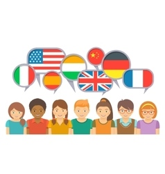 International kids communication in different vector image vector image
