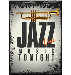 Jazz concert background vector image vector image