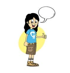 Male cartoon character thumb up vector